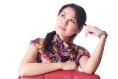 Созерцательная молодая женщина Стоковые Фотографии RF