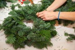 Создайте большие составы зимы handmade Стоковое Фото