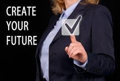 Создайте вашу будущую концепцию стоковая фотография