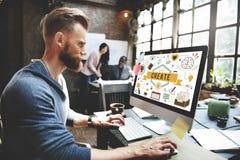 Создайте концепцию воодушевленности решения устремленности идей Стоковое Изображение