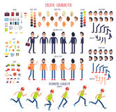 Создайте характер Комплект различных частей тела иллюстрация штока