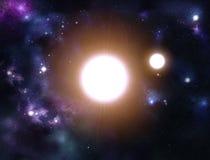 созданное цифровое starfield Стоковые Изображения RF