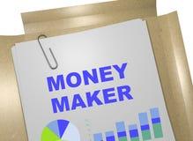 Создатель денег - концепция дела иллюстрация штока