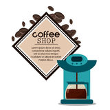 создатель машины кофейни иллюстрация штока