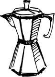 Создатель Cofee также вектор иллюстрации притяжки corel иллюстрация штока