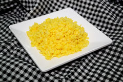 Сои на белом блюде 0022 Стоковое Фото