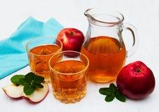 сока изображения еды яблок яблока 3d схематическое понижаясь прозрачное стеклянного естественное Стоковые Фотографии RF