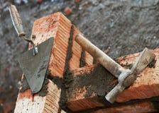 соколок оборудования bricklayer Стоковая Фотография