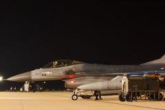 Сокол F-16 тренировки ночного полета воюя Стоковое Изображение