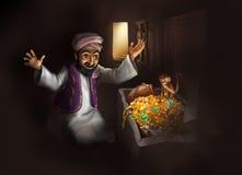 Сокровище Египта - смешной 2D иллюстрации краски Стоковое фото RF