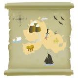 сокровище карты острова Стоковое Изображение