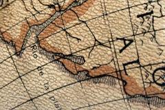 сокровище карты старое стоковые изображения