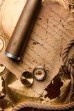 сокровище карты старое Стоковое Изображение RF
