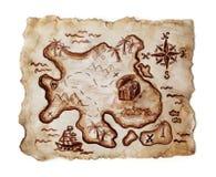 сокровище карты старое Стоковая Фотография RF