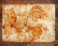 сокровище карты старое Стоковая Фотография