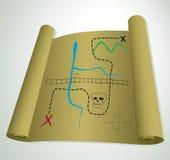 сокровище карты иллюстрация вектора