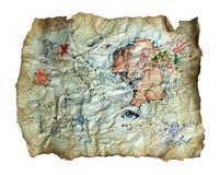 сокровище карты Стоковые Фото