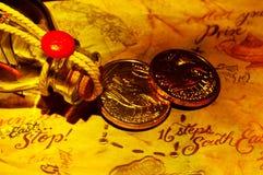 сокровище карты Стоковое фото RF