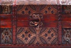 сокровище комода закрытое locked стоковое фото