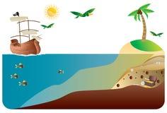 сокровище острова Стоковое Изображение