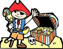 сокровище пирата комода иллюстрация штока