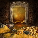 сокровище подземелья Стоковая Фотография RF