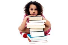Сокрушанный путем изучать домашнюю работу Стоковая Фотография