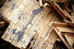 Сокрушенная крыша стоковые фотографии rf