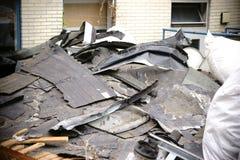 Сокрушенная крыша стоковая фотография