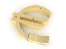 сокрушенное евро Стоковая Фотография