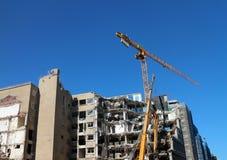 сокрушенное здание стоковая фотография rf