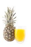 Сок ананаса изолированный на белизне Стоковое Фото