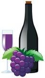 Сок виноградины и свежие виноградины иллюстрация штока