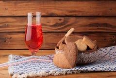 Сок вишни печенья шоколад и ваниль Стоковое Изображение