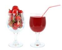 Сок вишни стоковые фотографии rf
