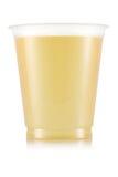 Сок в пластичной чашке Стоковые Изображения RF