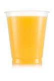 Сок в пластичной чашке Стоковое фото RF