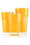 Сок в размере 3 стекла Стоковое Фото