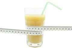 Сок и метр банана Стоковые Фотографии RF