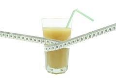 Сок и метр банана Стоковые Изображения RF