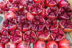 Сок красочного красного гранатового дерева свежий от тропического asain тайского ga Стоковая Фотография RF
