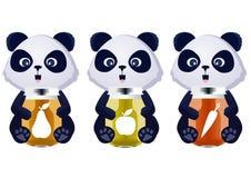 Сок младенца панды иллюстрация вектора