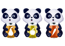 Сок младенца панды Стоковое Изображение RF