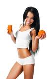 сок над белыми женщинами молодыми стоковая фотография rf