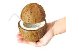 сок отрезока кокоса Стоковая Фотография RF