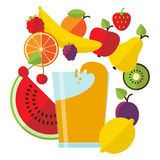 сок свежих фруктов иллюстрация штока