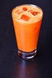 сок стекла моркови Стоковые Фотографии RF