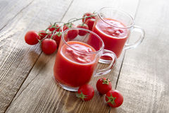Сок томата в стеклах Стоковые Фотографии RF