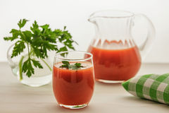 Сок томата Органическое питье Стоковая Фотография RF
