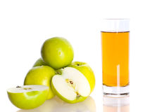 сок яблока свежий Стоковая Фотография